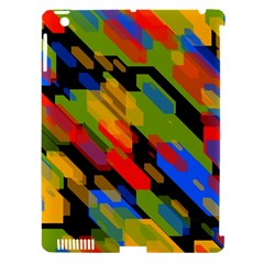 Colorful Shapes On A Black Background Apple Ipad 3/4 Hardshell Case (compatible With Smart Cover) by LalyLauraFLM