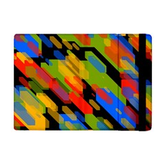 Colorful Shapes On A Black Background Apple Ipad Mini Flip Case by LalyLauraFLM