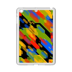 Colorful shapes on a black background Apple iPad Mini 2 Case (White)