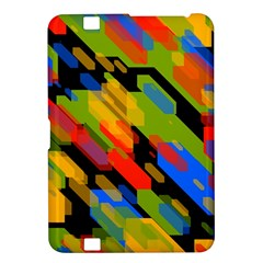 Colorful Shapes On A Black Background Kindle Fire Hd 8 9  Hardshell Case by LalyLauraFLM