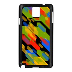 Colorful Shapes On A Black Background Samsung Galaxy Note 3 N9005 Case (black) by LalyLauraFLM