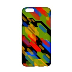 Colorful Shapes On A Black Background Apple Iphone 6 Hardshell Case by LalyLauraFLM