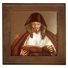 Anonymous Reading Framed Ceramic Tile by AnonMart