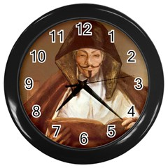 Anonymous Reading Wall Clock (black) by AnonMart