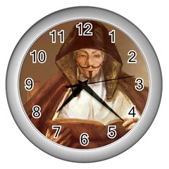 Anonymous Reading Wall Clock (silver) by AnonMart