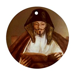 Anonymous Reading Round Ornament (two Sides) by AnonMart