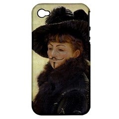 Anonymous Reading Apple Iphone 4/4s Hardshell Case (pc+silicone) by AnonMart