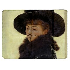 Anonymous Reading Samsung Galaxy Tab 7  P1000 Flip Case by AnonMart