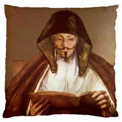Anonymous Reading Large Flano Cushion Case (one Side)