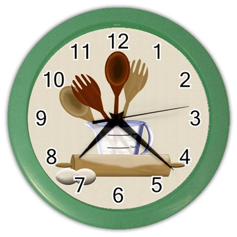 Kitchen Clock Purple By Chere s Creations   Color Wall Clock   8c2ls97fv74o   Www Artscow Com Front