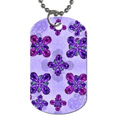 Deluxe Ornate Pattern Design In Blue And Fuchsia Colors Dog Tag (two Sided)  by dflcprints