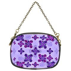 Deluxe Ornate Pattern Design In Blue And Fuchsia Colors Chain Purse (one Side) by dflcprints