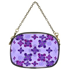 Deluxe Ornate Pattern Design In Blue And Fuchsia Colors Chain Purse (two Sided)  by dflcprints