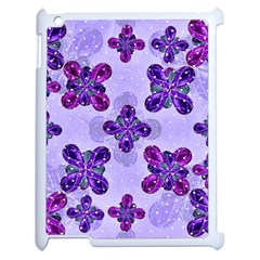 Deluxe Ornate Pattern Design In Blue And Fuchsia Colors Apple Ipad 2 Case (white) by dflcprints