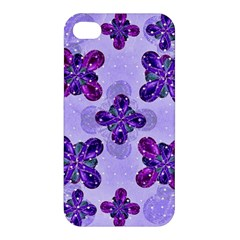 Deluxe Ornate Pattern Design In Blue And Fuchsia Colors Apple Iphone 4/4s Premium Hardshell Case by dflcprints