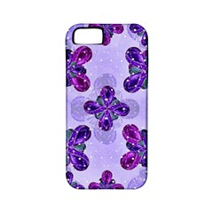 Deluxe Ornate Pattern Design In Blue And Fuchsia Colors Apple Iphone 5 Classic Hardshell Case (pc+silicone) by dflcprints