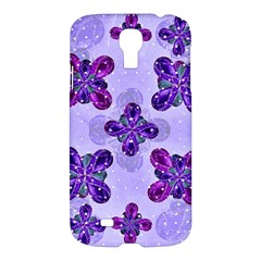 Deluxe Ornate Pattern Design In Blue And Fuchsia Colors Samsung Galaxy S4 I9500/i9505 Hardshell Case by dflcprints