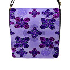 Deluxe Ornate Pattern Design In Blue And Fuchsia Colors Flap Closure Messenger Bag (large) by dflcprints