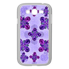 Deluxe Ornate Pattern Design In Blue And Fuchsia Colors Samsung Galaxy Grand Duos I9082 Case (white) by dflcprints