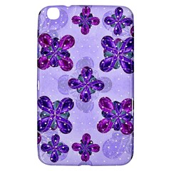 Deluxe Ornate Pattern Design In Blue And Fuchsia Colors Samsung Galaxy Tab 3 (8 ) T3100 Hardshell Case  by dflcprints