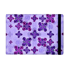 Deluxe Ornate Pattern Design In Blue And Fuchsia Colors Apple Ipad Mini 2 Flip Case by dflcprints