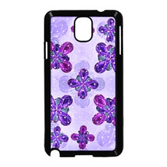Deluxe Ornate Pattern Design In Blue And Fuchsia Colors Samsung Galaxy Note 3 Neo Hardshell Case (black) by dflcprints