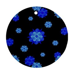 Floral Print Modern Style Pattern  Round Ornament by dflcprints