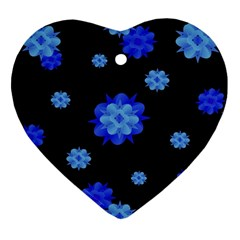 Floral Print Modern Style Pattern  Heart Ornament by dflcprints