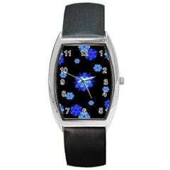 Floral Print Modern Style Pattern  Tonneau Leather Watch by dflcprints