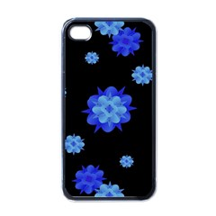 Floral Print Modern Style Pattern  Apple Iphone 4 Case (black) by dflcprints