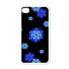 Floral Print Modern Style Pattern  Apple Iphone 4 Case (white) by dflcprints