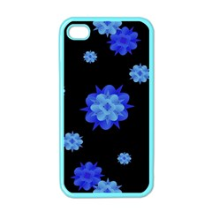 Floral Print Modern Style Pattern  Apple Iphone 4 Case (color) by dflcprints