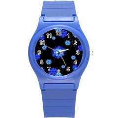 Floral Print Modern Style Pattern  Plastic Sport Watch (small) by dflcprints