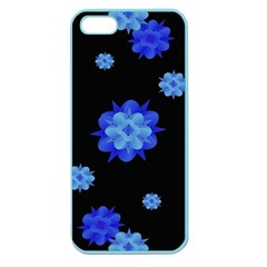 Floral Print Modern Style Pattern  Apple Seamless Iphone 5 Case (color) by dflcprints