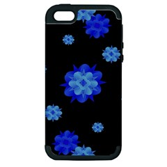 Floral Print Modern Style Pattern  Apple Iphone 5 Hardshell Case (pc+silicone) by dflcprints