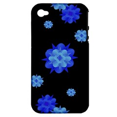Floral Print Modern Style Pattern  Apple Iphone 4/4s Hardshell Case (pc+silicone) by dflcprints
