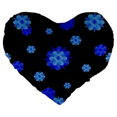 Floral Print Modern Style Pattern  19  Premium Flano Heart Shape Cushion
