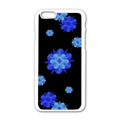 Floral Print Modern Style Pattern  Apple Iphone 6 White Enamel Case by dflcprints