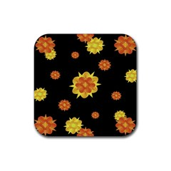 Floral Print Modern Style Pattern  Drink Coaster (square) by dflcprints