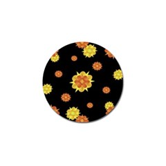 Floral Print Modern Style Pattern  Golf Ball Marker 10 Pack by dflcprints