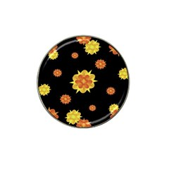 Floral Print Modern Style Pattern  Golf Ball Marker 10 Pack (for Hat Clip) by dflcprints