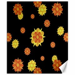Floral Print Modern Style Pattern  Canvas 20  X 24  (unframed) by dflcprints