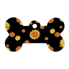 Floral Print Modern Style Pattern  Dog Tag Bone (two Sided) by dflcprints