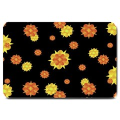 Floral Print Modern Style Pattern  Large Door Mat by dflcprints