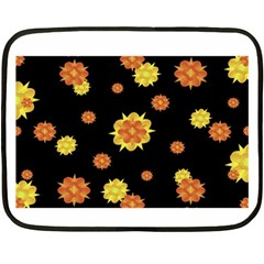 Floral Print Modern Style Pattern  Mini Fleece Blanket (two Sided) by dflcprints