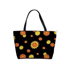 Floral Print Modern Style Pattern  Large Shoulder Bag by dflcprints