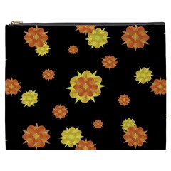 Floral Print Modern Style Pattern  Cosmetic Bag (xxxl) by dflcprints