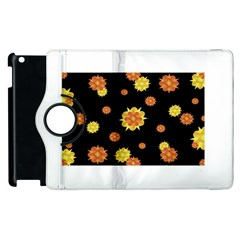 Floral Print Modern Style Pattern  Apple Ipad 2 Flip 360 Case by dflcprints