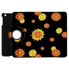 Floral Print Modern Style Pattern  Apple Ipad Mini Flip 360 Case by dflcprints