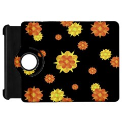 Floral Print Modern Style Pattern  Kindle Fire Hd Flip 360 Case by dflcprints